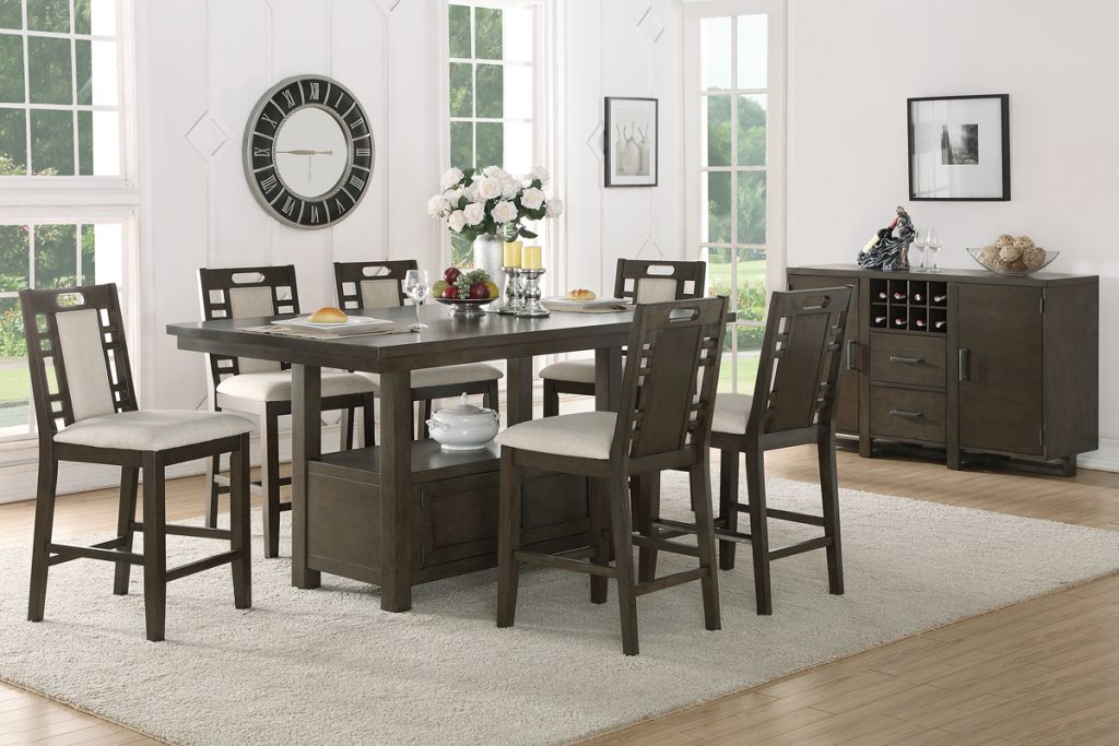 Rectangular Wood Top Counter Dining Set Shop For Affordable Home