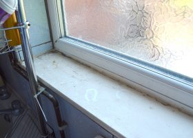 Bathroom Window Sill