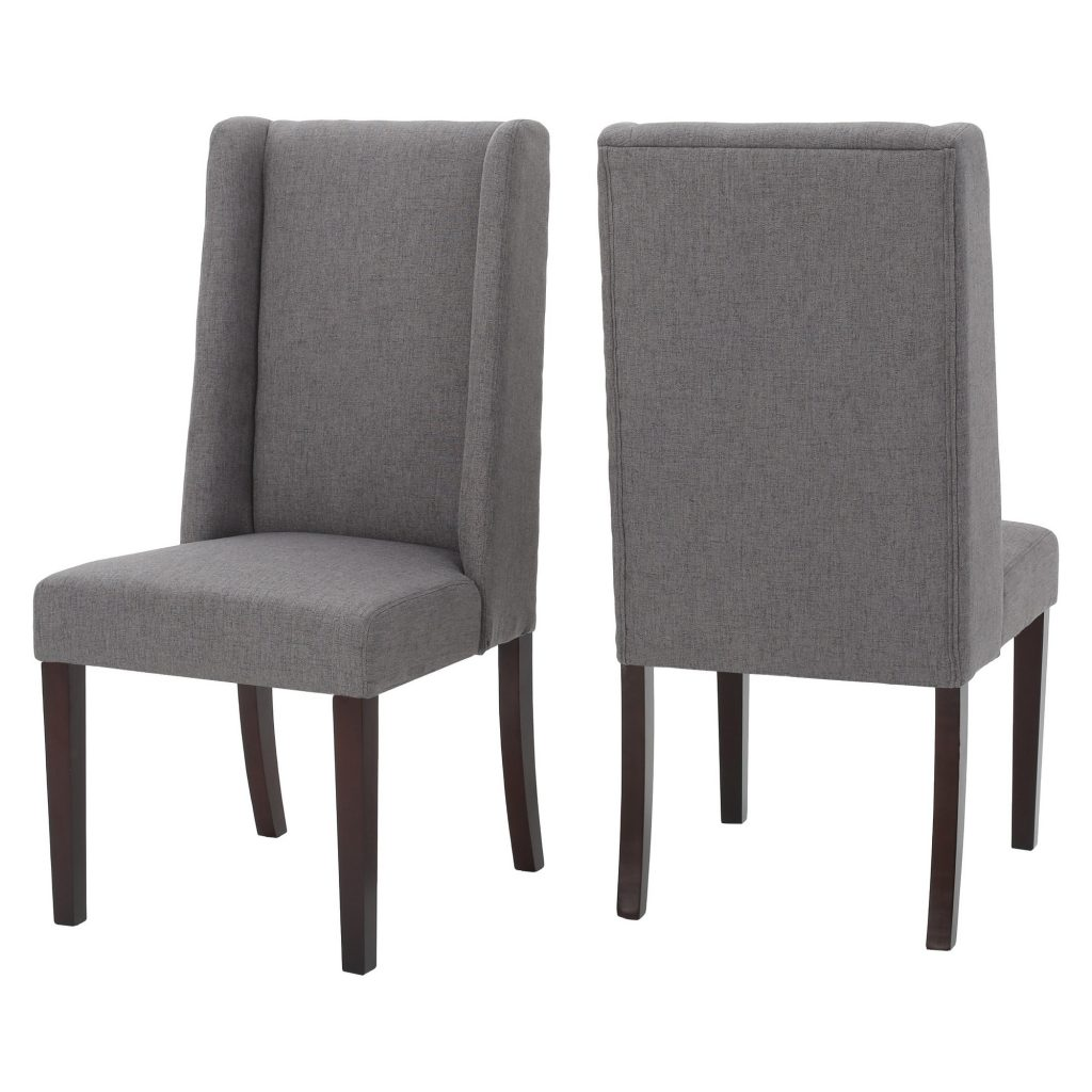 Rory Dining Chair Set Of 2 Dark Gray Christopher Knight Home