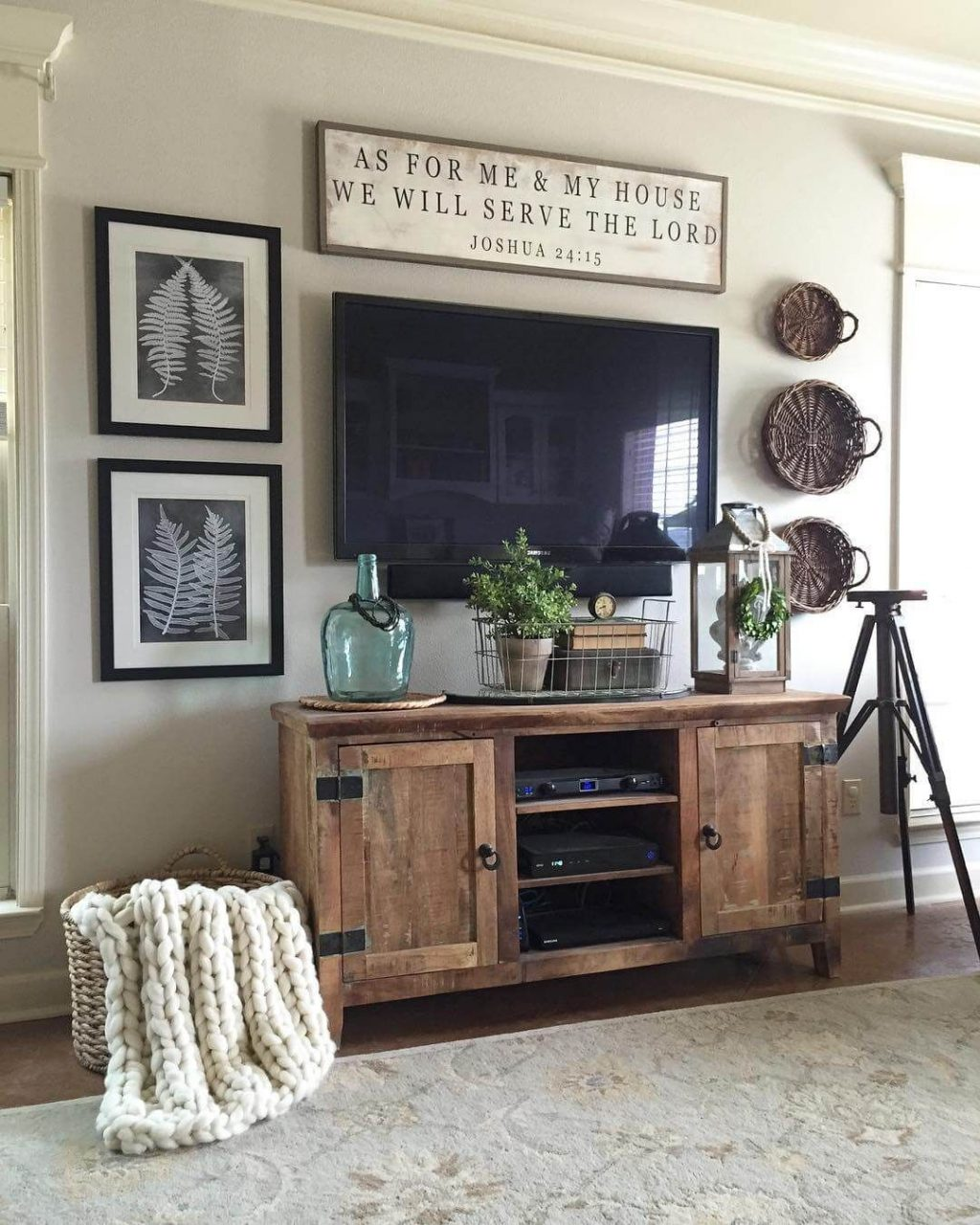 Rugged Barnwood Television Console Cabinet Home Modern Farmhouse