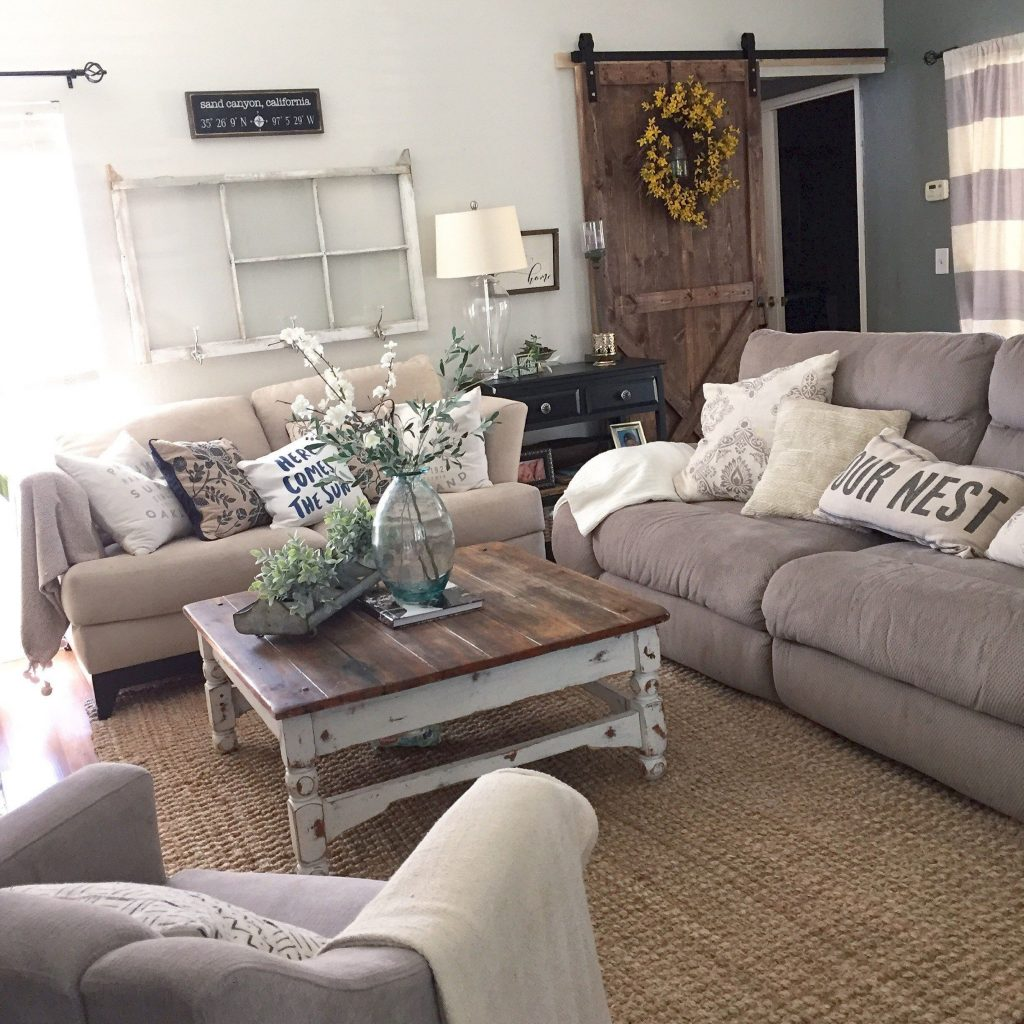 Rustic Chic Living Room Adorable Cozy And For Your Beautiful Home
