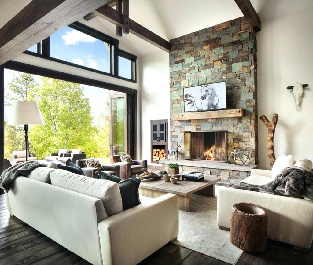 Rustic Contemporary Living Room Rustic Modern Dwelling Sage Interior