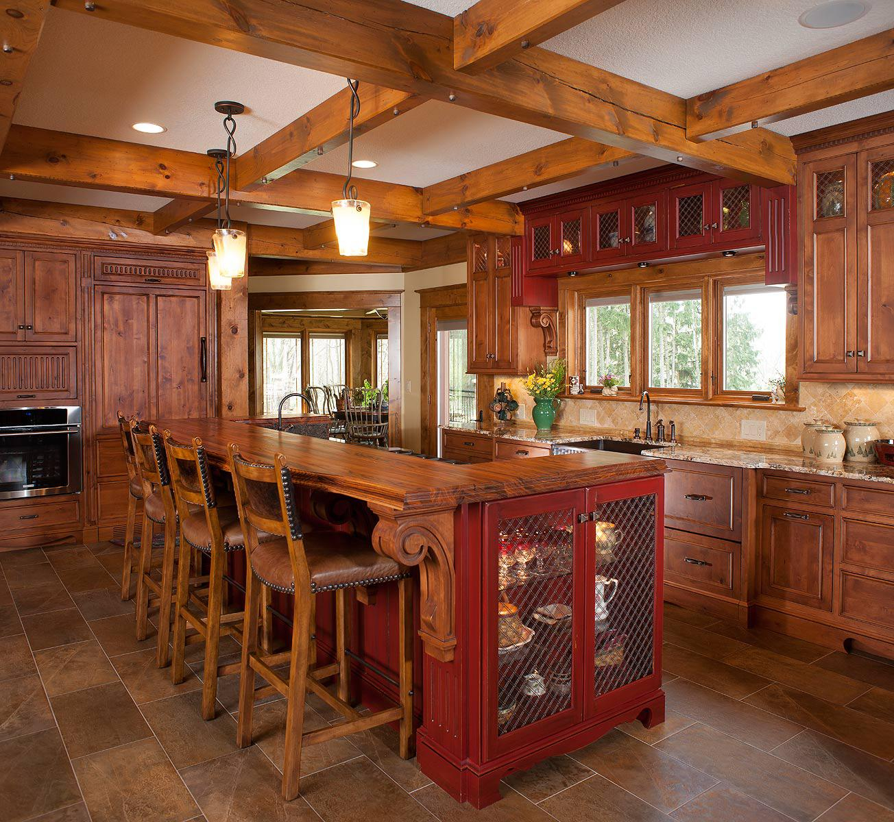 Rustic Kitchen Island With Seating Home Design Styling Layjao