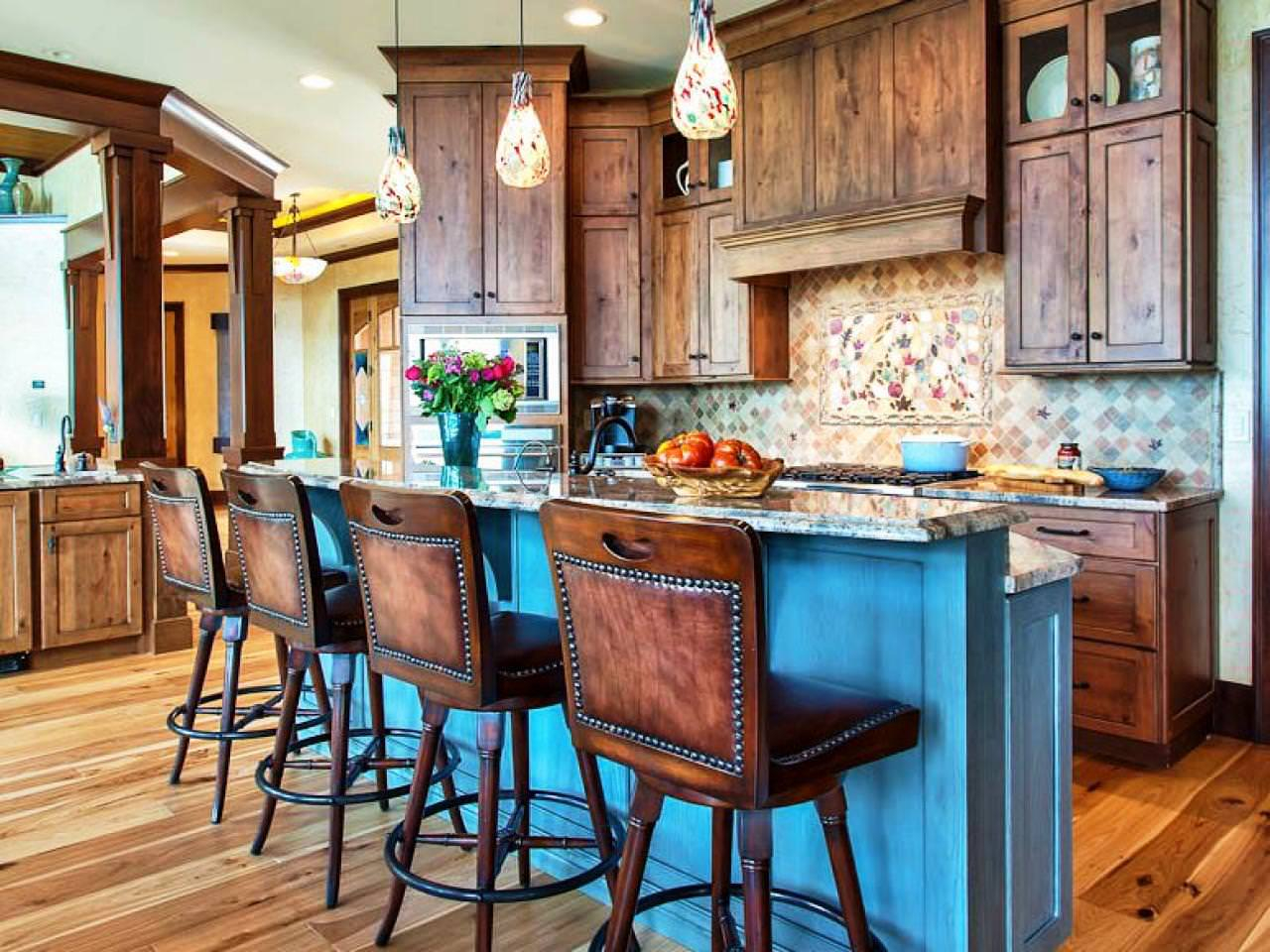Rustic Kitchen Islands With Seating Home Design Styling