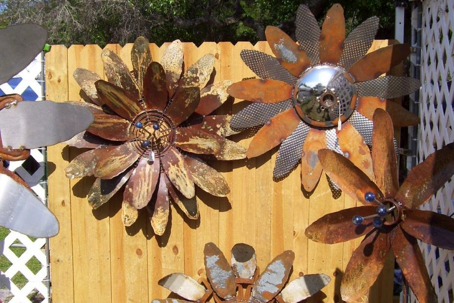 Rustic Rediscovered Mikes Metal Flowers For The Home Garden