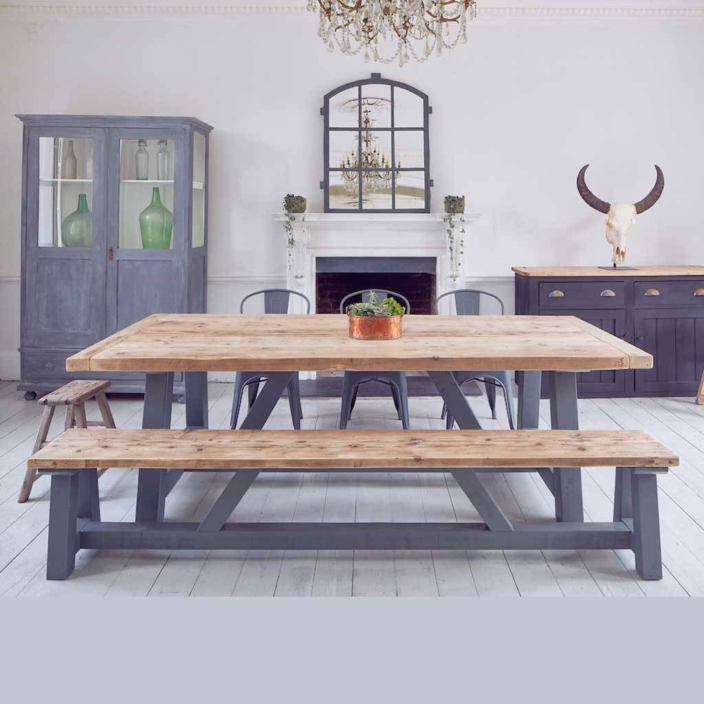 Salvaged Timber Industrial Kitchen Dining Table Home Barn