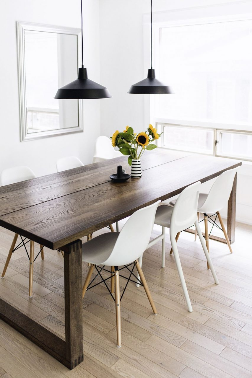 Scandinavian Inspired Dining Room Mrlnga Table Eames Chairs