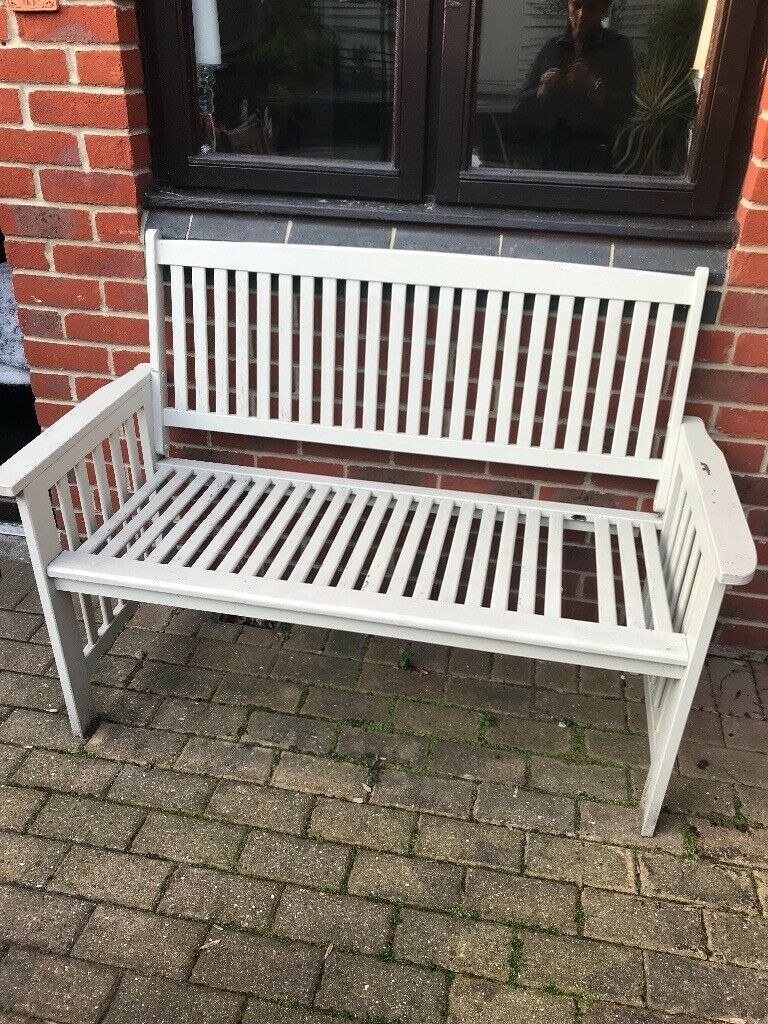 Shab Chic Garden Bench With 1 Slat Missing Free In Purley