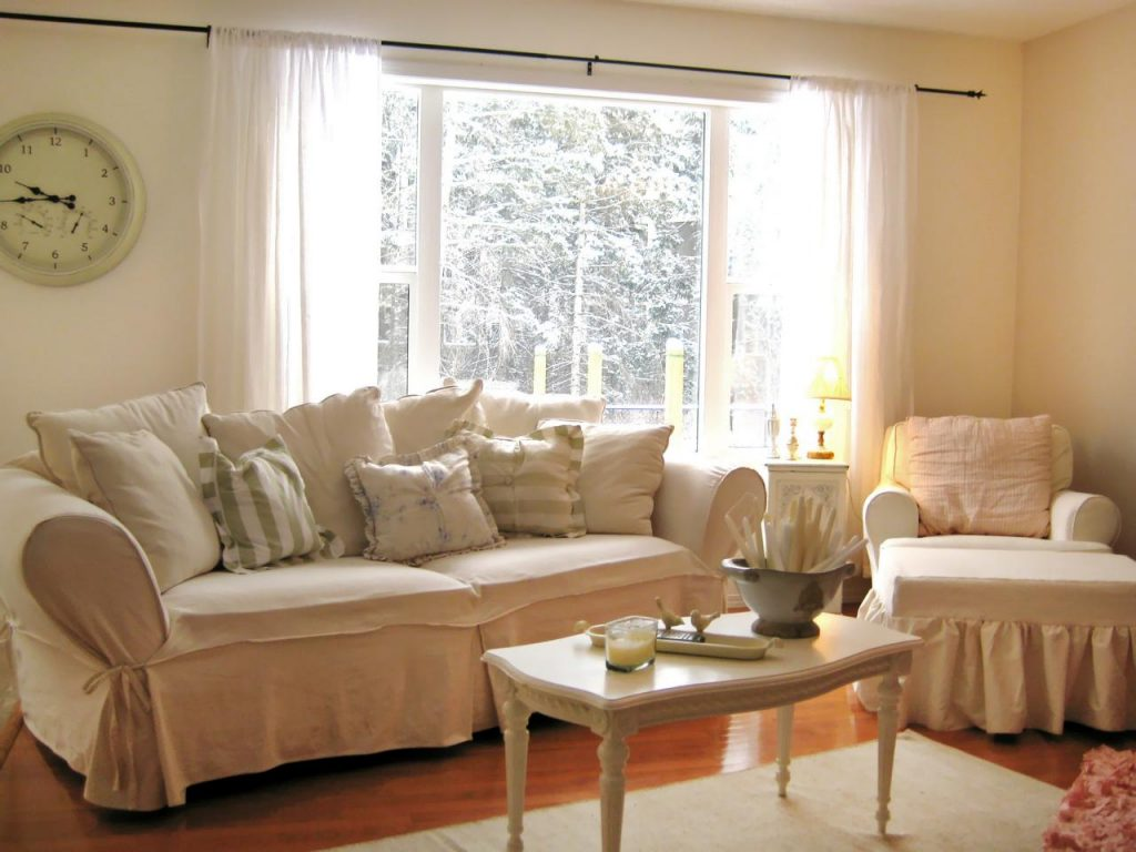 Shab Chic Living Room Interior Design Living Room Curtains Design