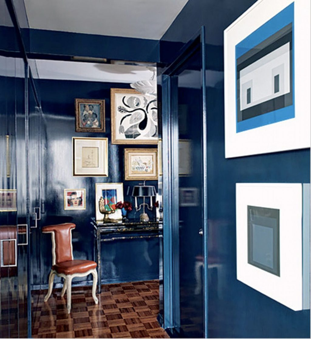 Shiny Happy Lacquered Walls Decor Hague Blue Fine Paints Of