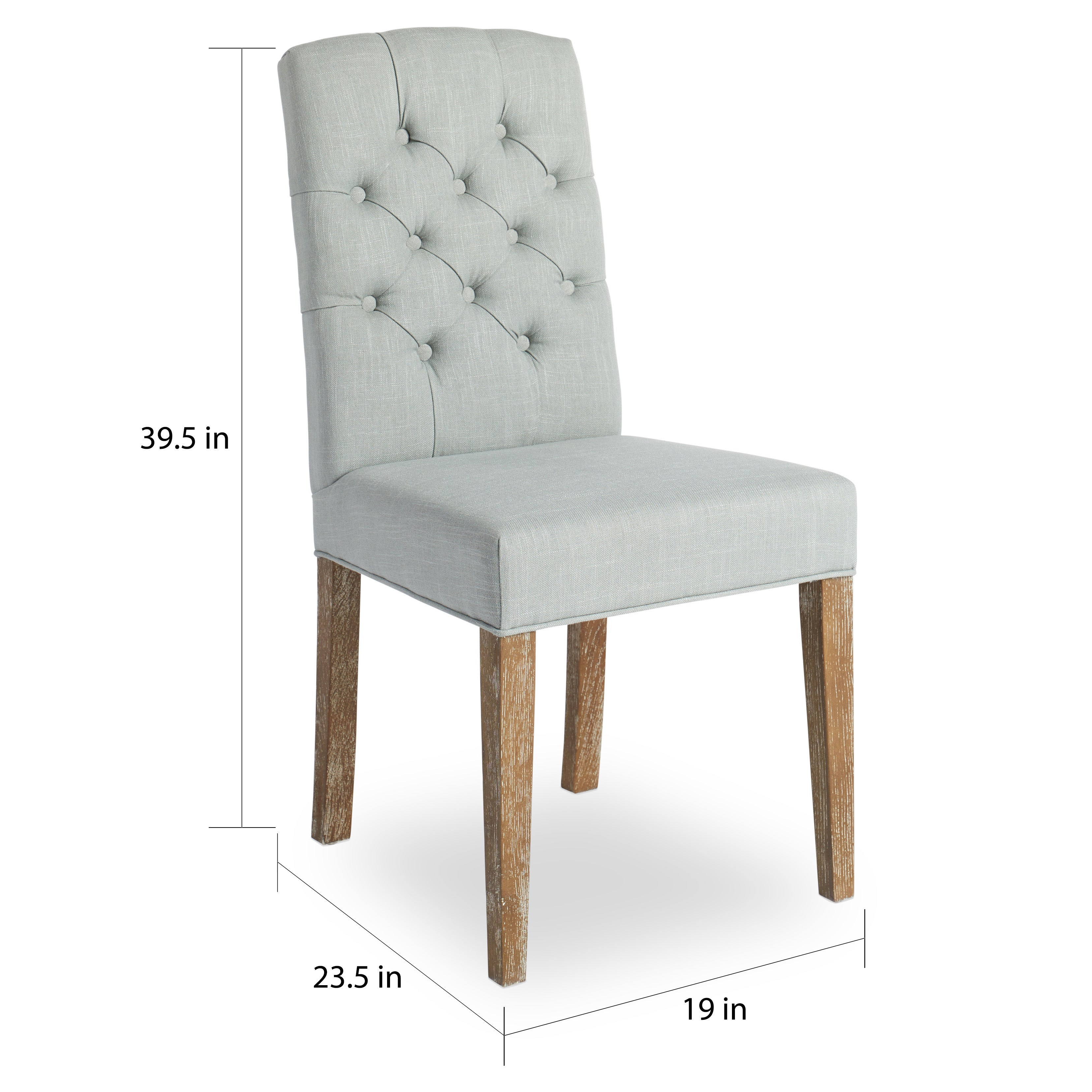 Picture of: Shop Abson Colin Seafoam Blue Linen Tufted Dining Chair On Sale Layjao