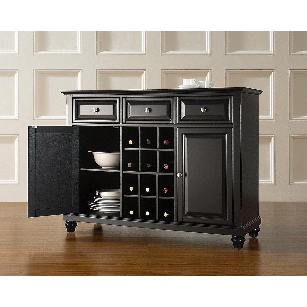 Shop Cambridge Buffet Server Sideboard Cabinet With Wine Storage