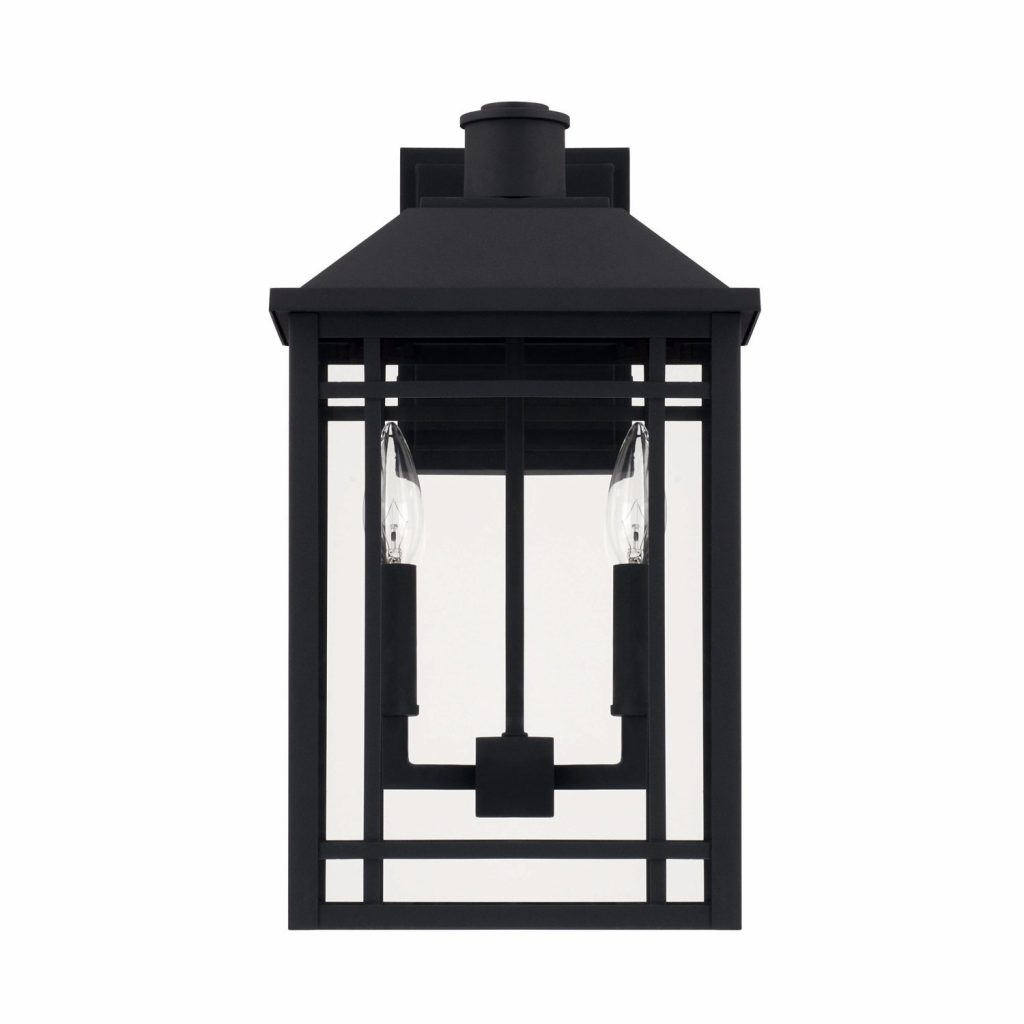 Shop Capital Braden 2 Light Black Outdoor Wall Lantern Free