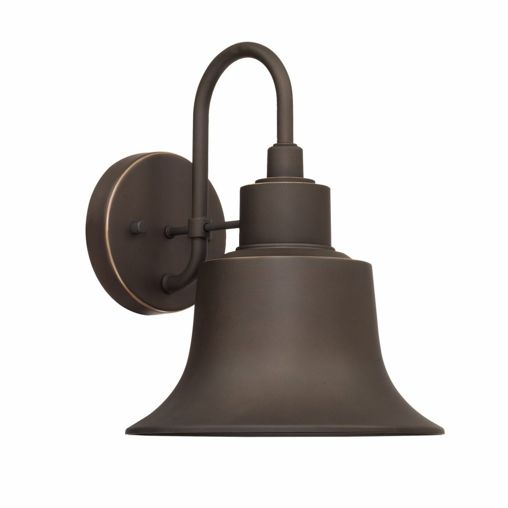 Shop Capital Brock 1 Light Oiled Bronze Outdoor Wall Sconce Free