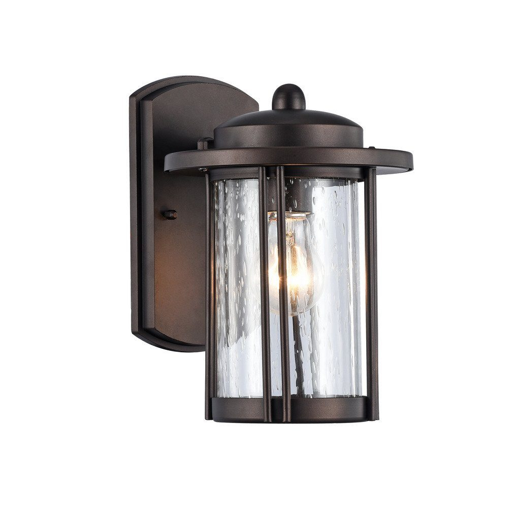 Shop Chloe Transitional 1 Light Oil Rubbed Bronze Outdoor Wall