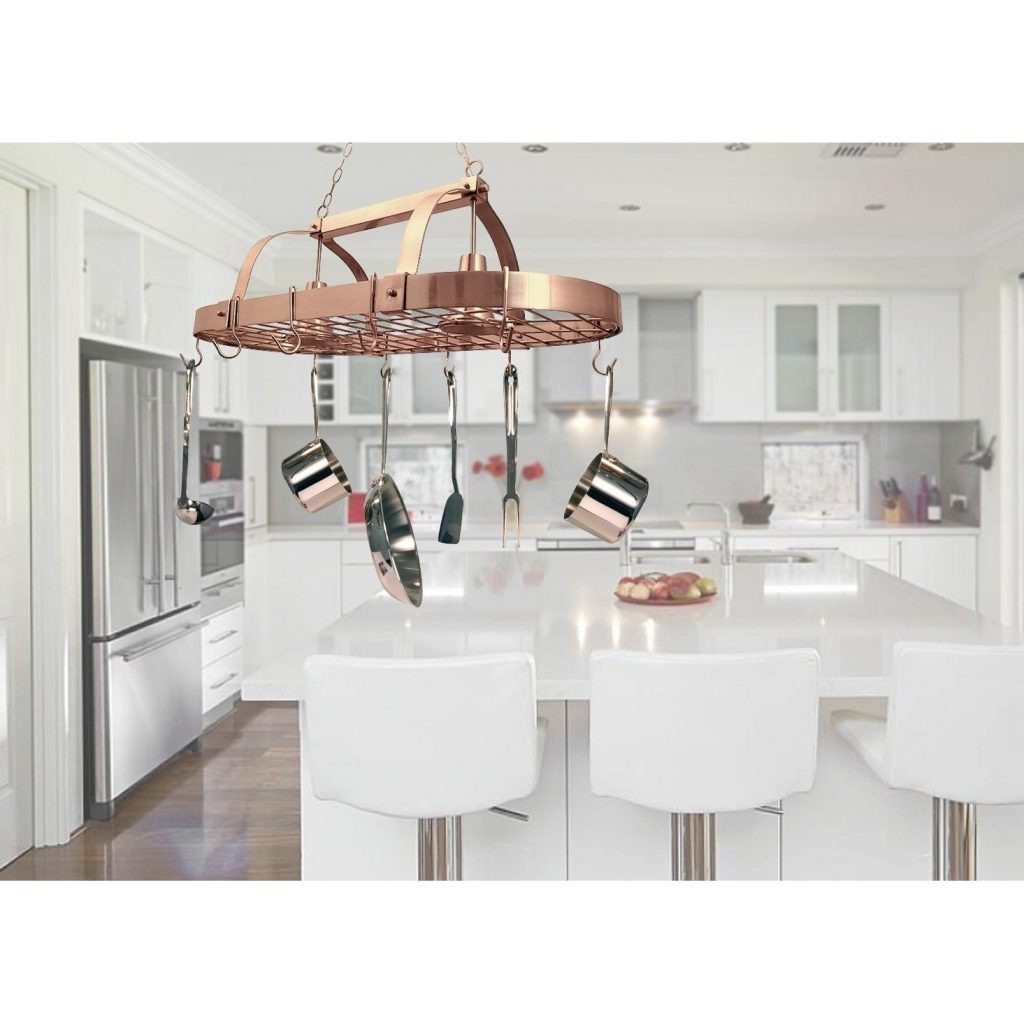 Shop Elegant Designs Home Collection 2 Light Kitchen Pot Rack On