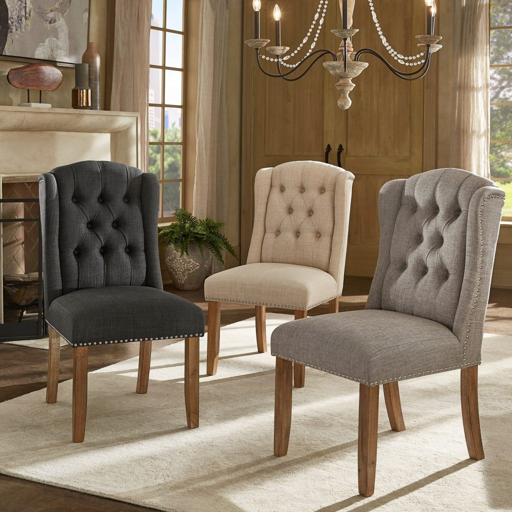 Shop Gracewood Hollow Mabasa Tufted Wingback Dining Chair With