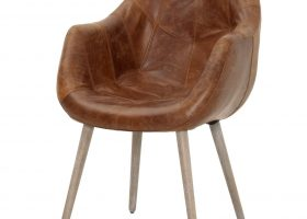 Distressed Leather Dining Chair