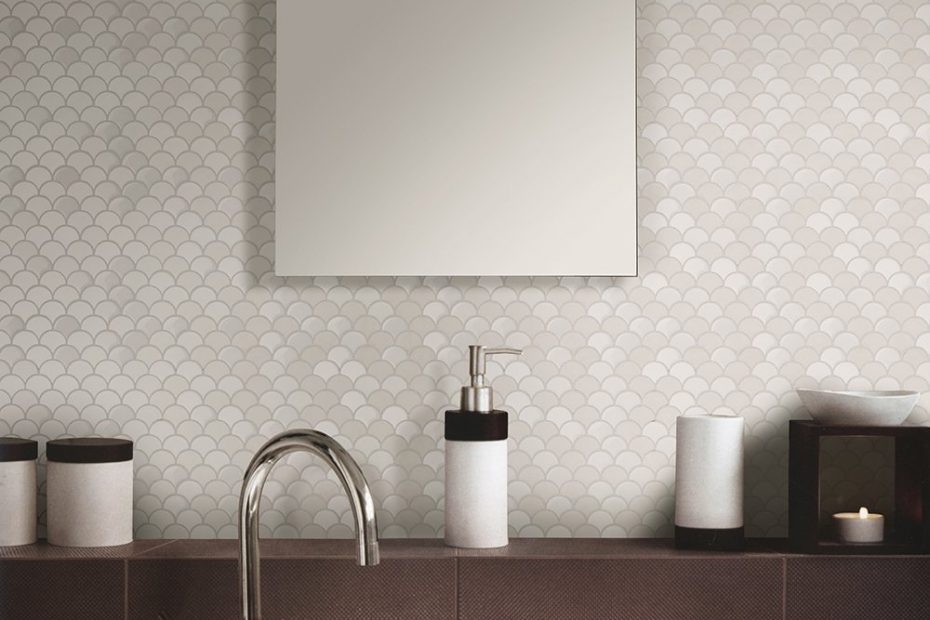 Shop Somertile 1125x12 Inch Expresiones Scallop White Glass Mosaic