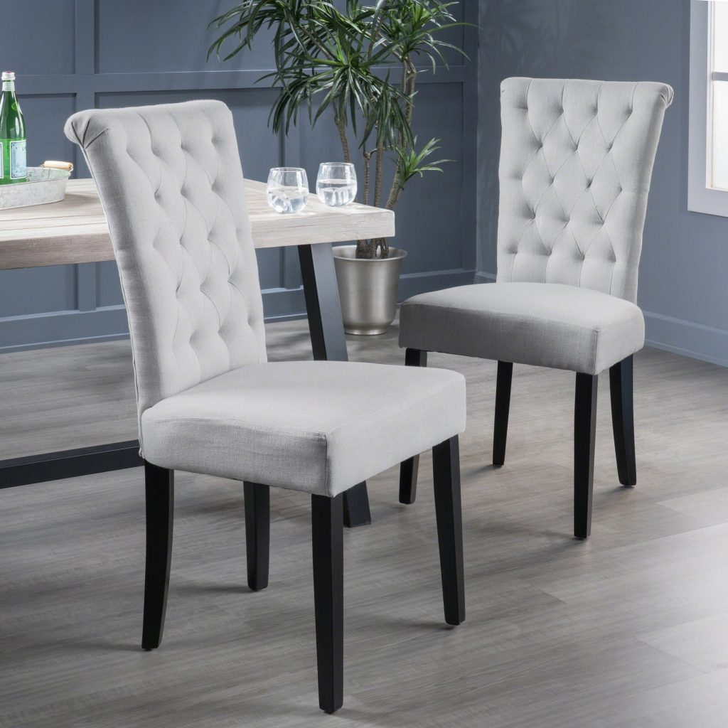 Shop Venetian Tufted Dining Chairs Set Of 2 Christopher Knight