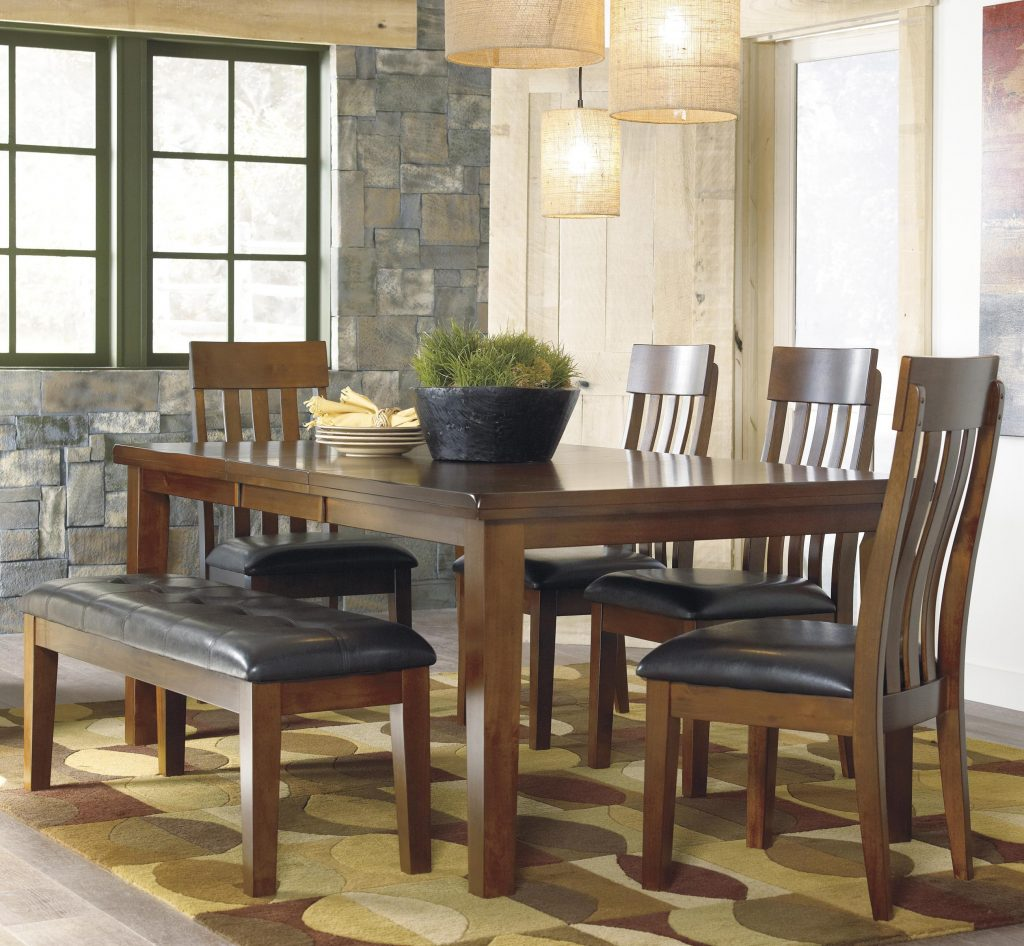 Signature Design Ashley Ralene Casual 6 Piece Dining Set With