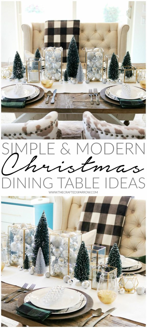 Simple Modern Christmas Dining Table Ideas