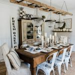 Rustic Cottage Style Dining Room Decor