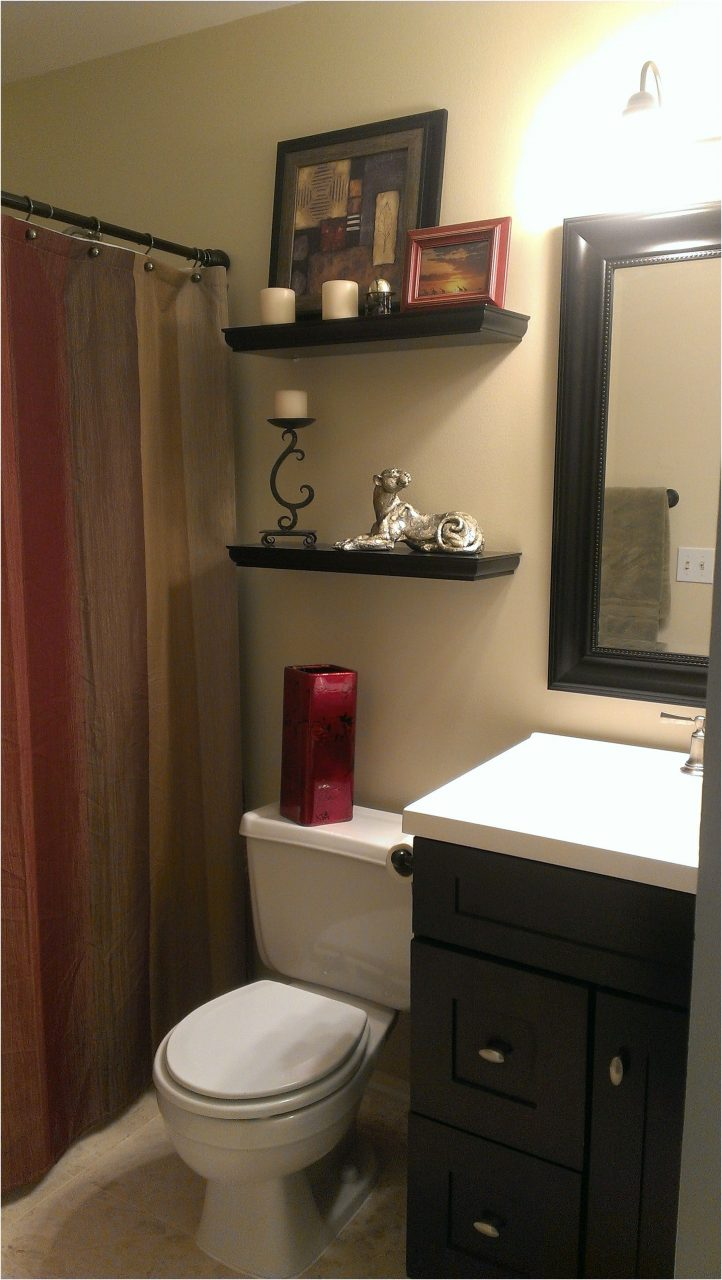 Small Bathroom With Earth Tone Color Scheme Ourhandiwork From