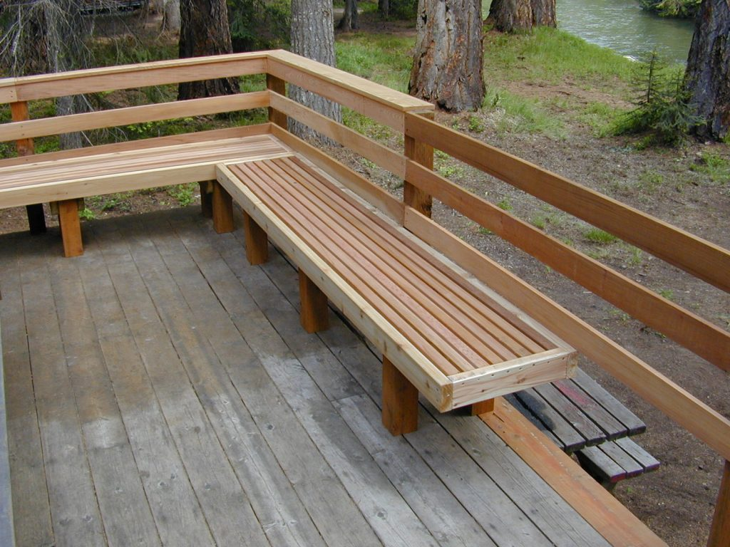 Small Deck Seating Ideas Simple Bench Brackets Mdash The Latest Home