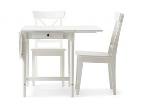 Small White Dining Table Set
