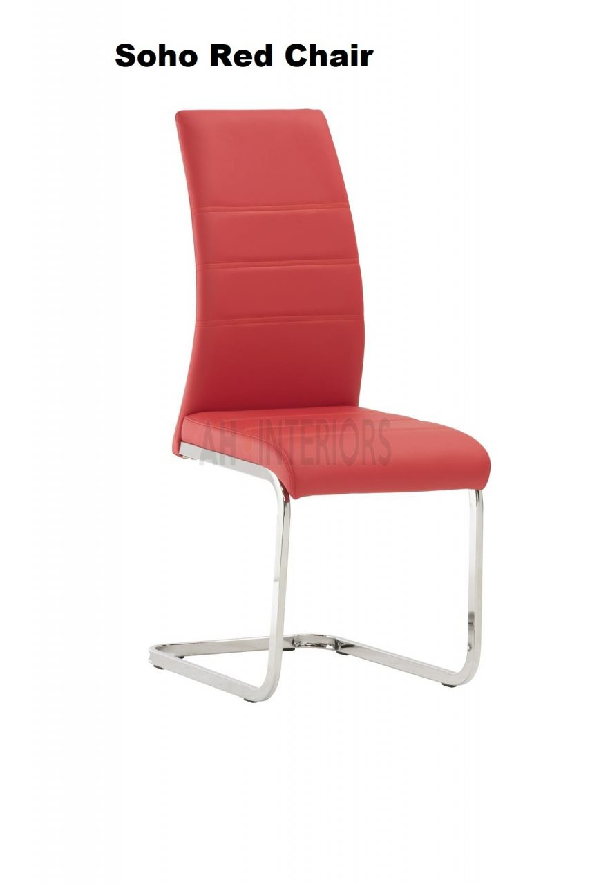 Soho Faux Leather Dining Chair Available In 8 Colours