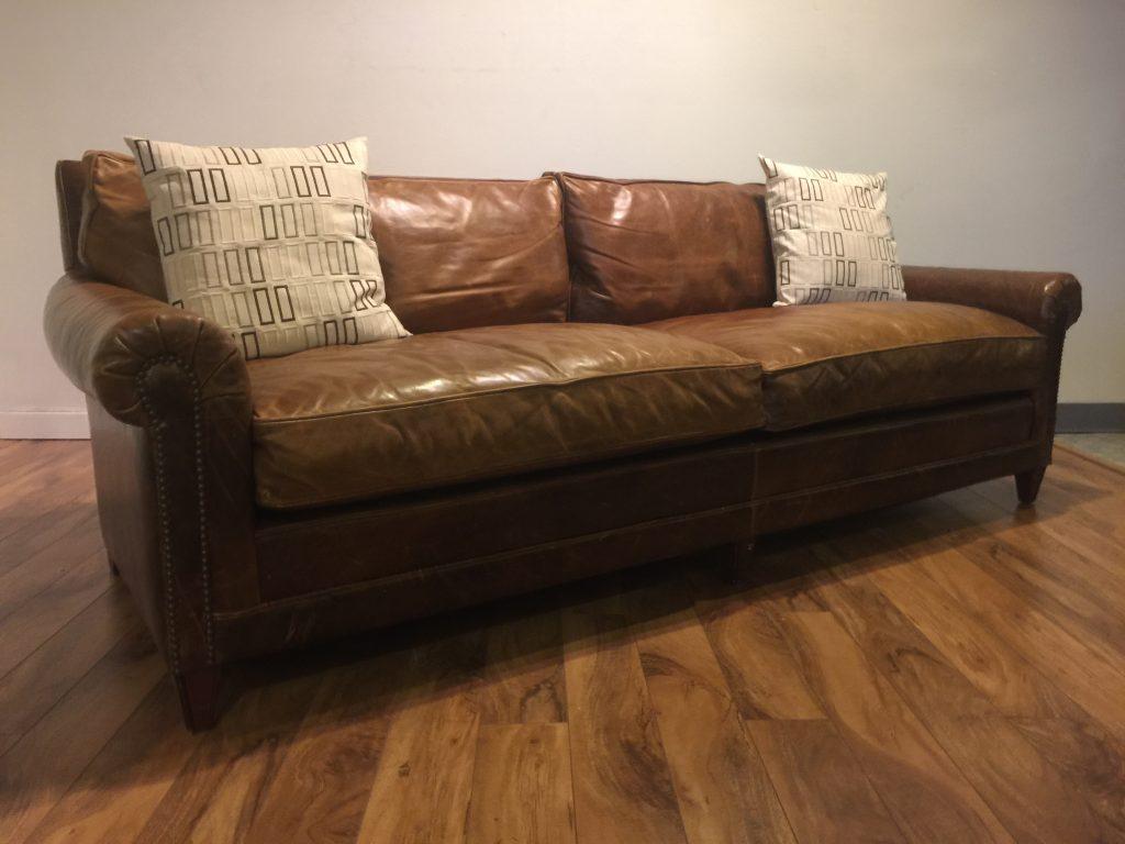 Sold Ralph Lauren Home Leather Sofa Modern To Vintage Down Filled