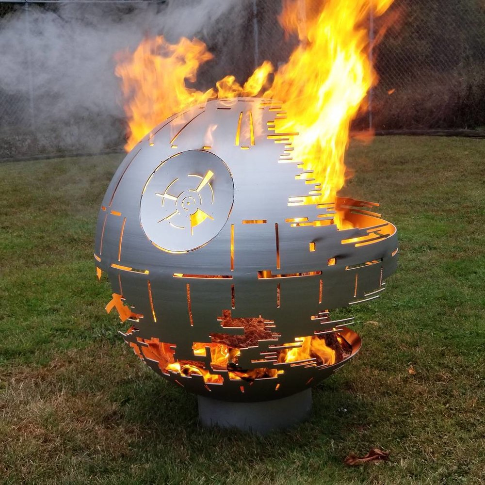 Steel Death Star Firepit Made The Guys Next Door To My Wood Shop