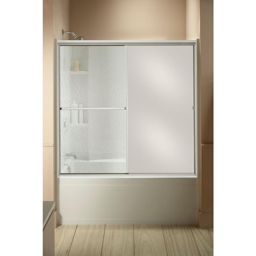 Sterling Standard 59 In X 56 716 In Framed Sliding Tub And Shower