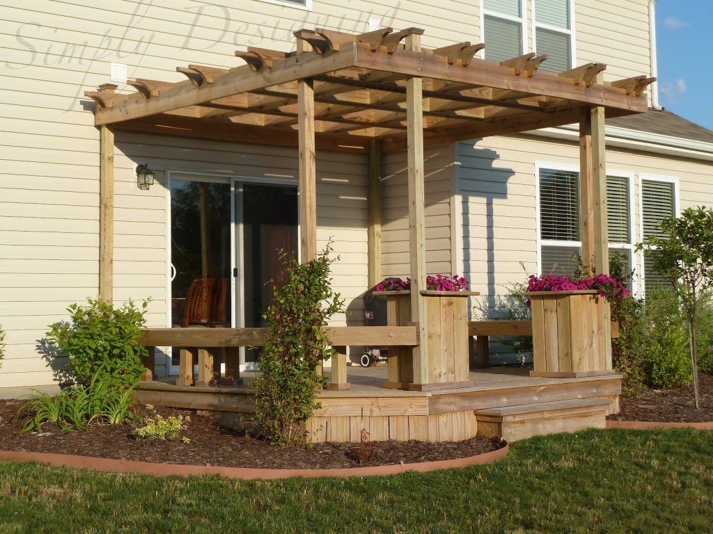 Stylish Decks With Pergolas Invisibleinkradio Home Decor
