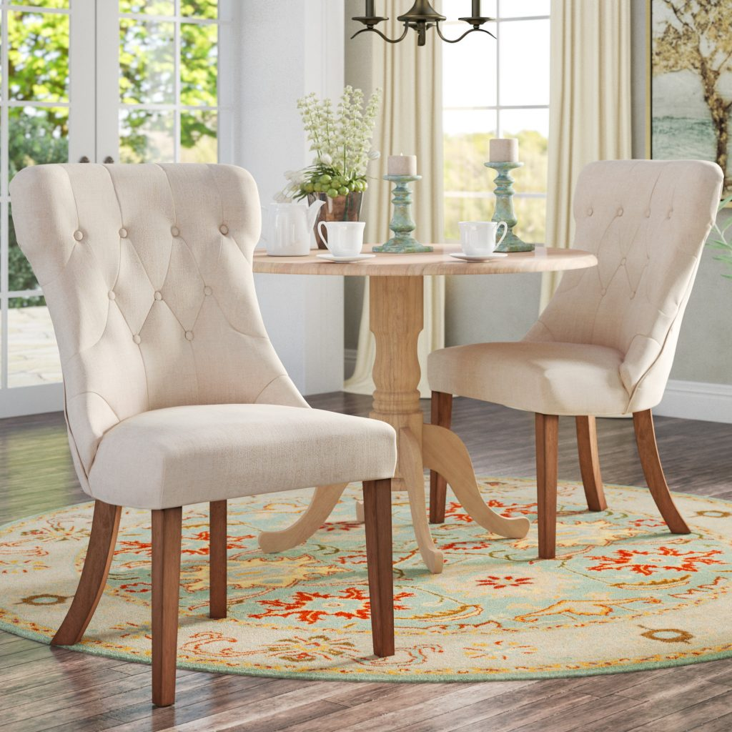 Tamarack Linen Tufted Upholstery Dining Chair Reviews Birch Lane