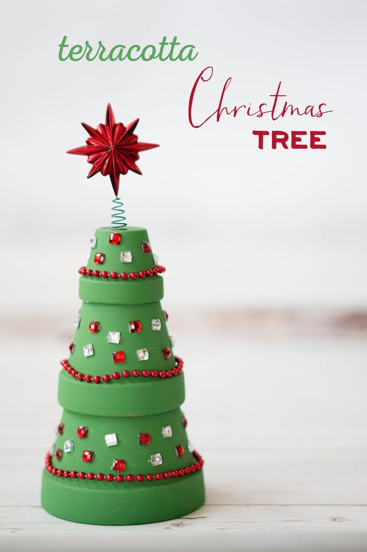 Terracotta Christmas Tree Christmas Winter Christmas Crafts