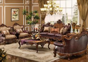 Formal Leather Living Room Sofa Sets