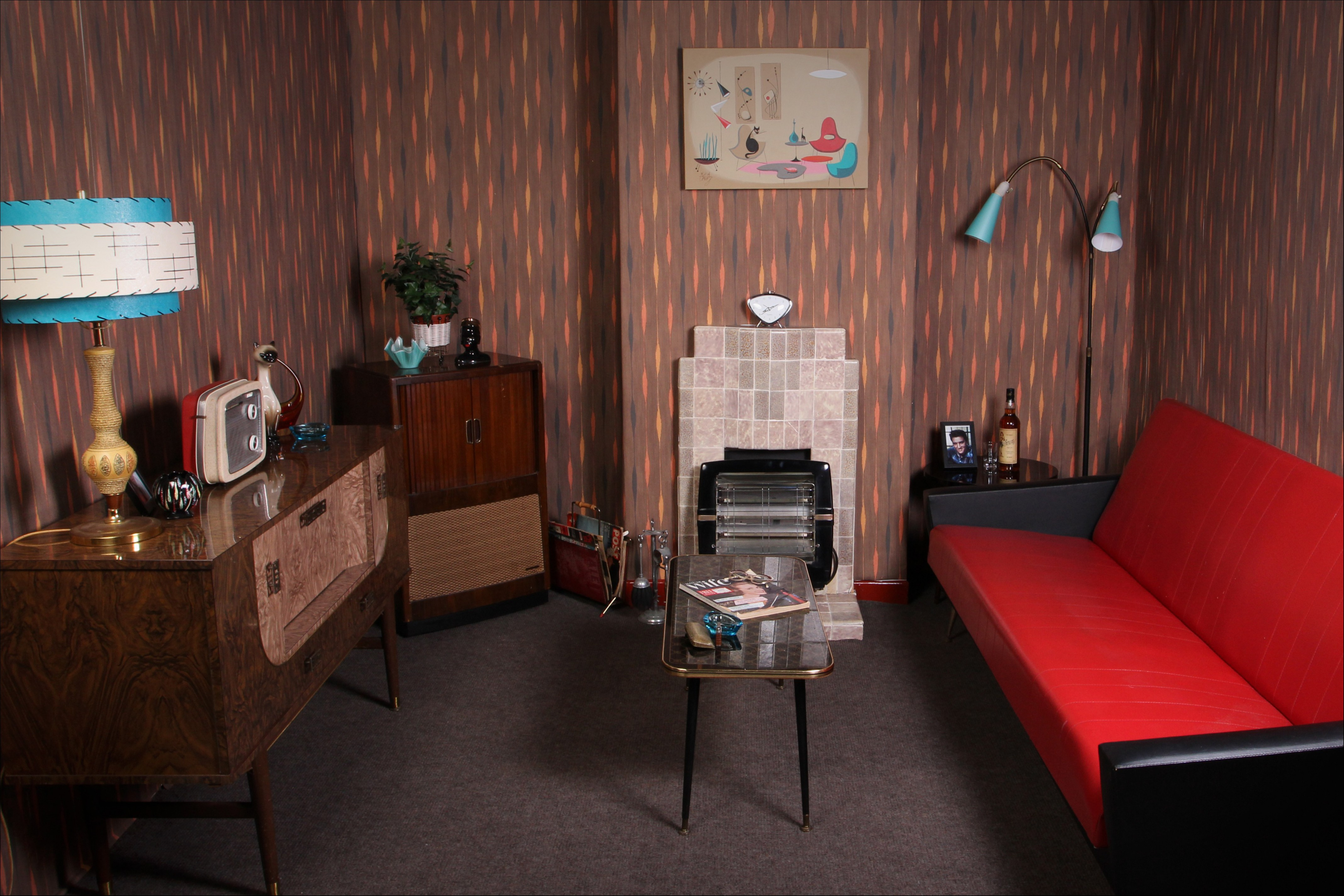 The Top 12 Ideas About 1950s Living Room Furniture Floor Plan Design