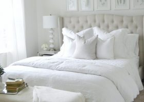 Master Bedrooms with White Comforters