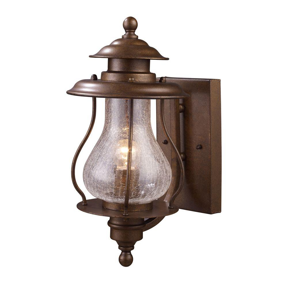 Titan Lighting Wikshire 1 Light Wall Mount Outdoor Coffee Bronze