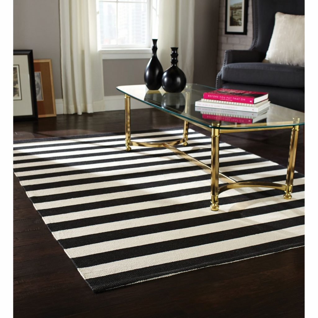 Trend Black And White Striped Rug Ideas Black And White Striped