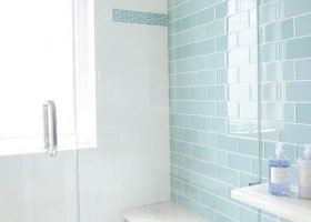 Turquoise Bathroom Shower Tile