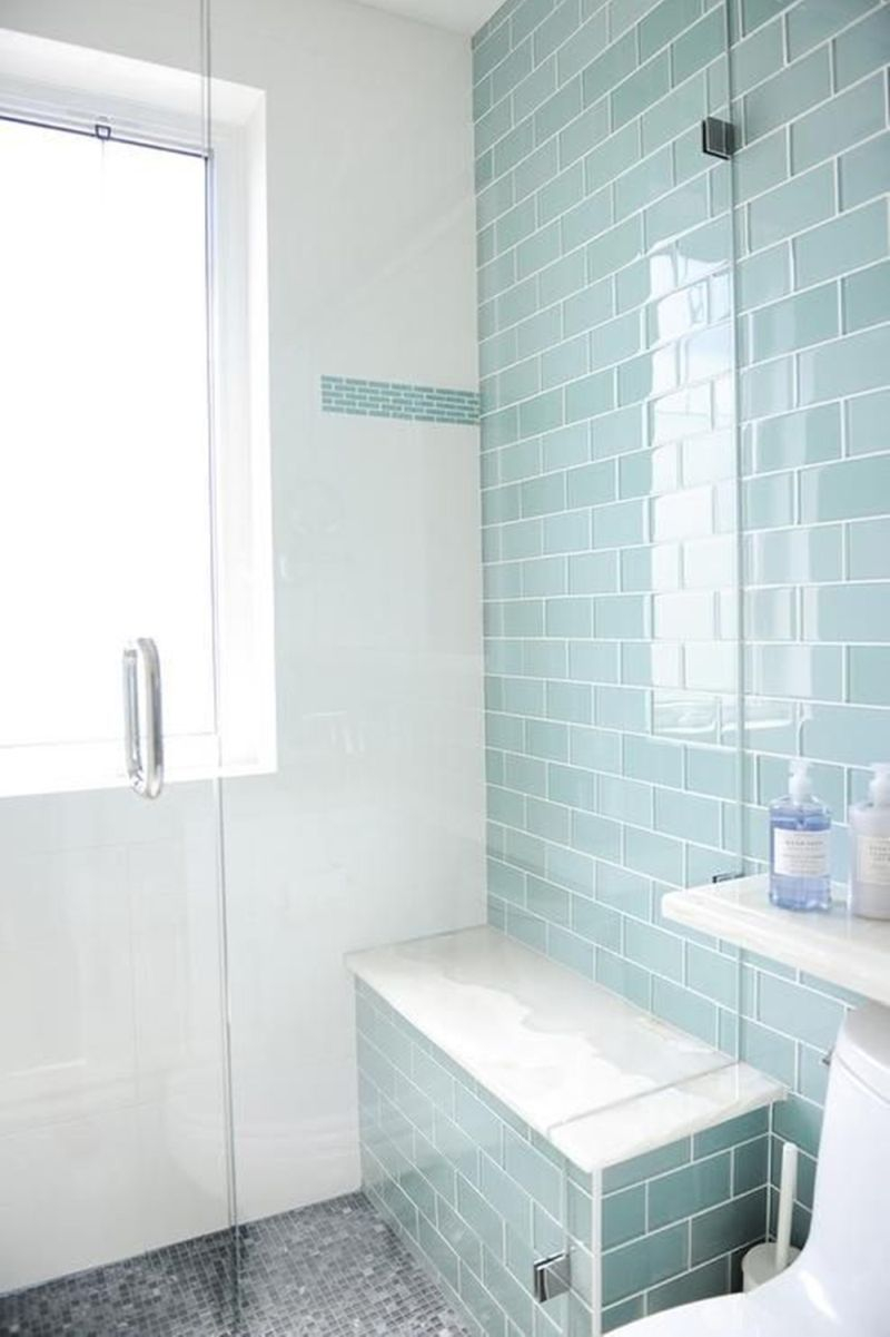Turquoise Shade For Walk In Shower Tiles Bathrooms In 2019