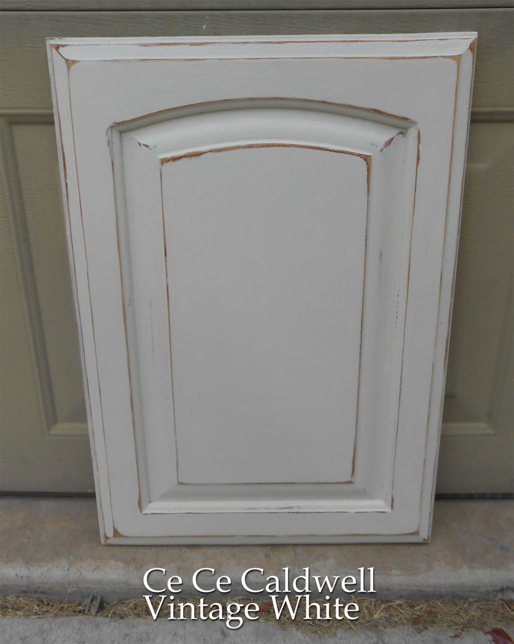 Using Chalk Paint For Oak Kitchen Cabinets Test Door Cabinets