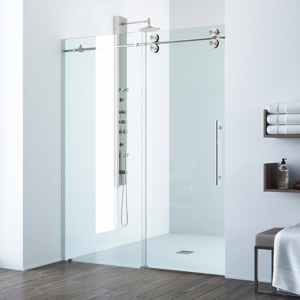 Vigo Elan 68 To 72 In X 74 In Frameless Sliding Shower Door In