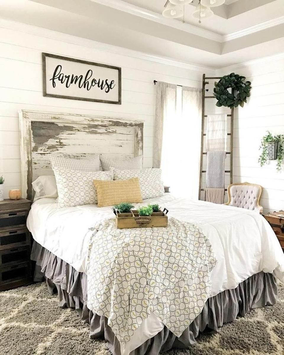 Vintage Farmhouse Bedroom Decorating Ideas 20 Tc Master Makeover