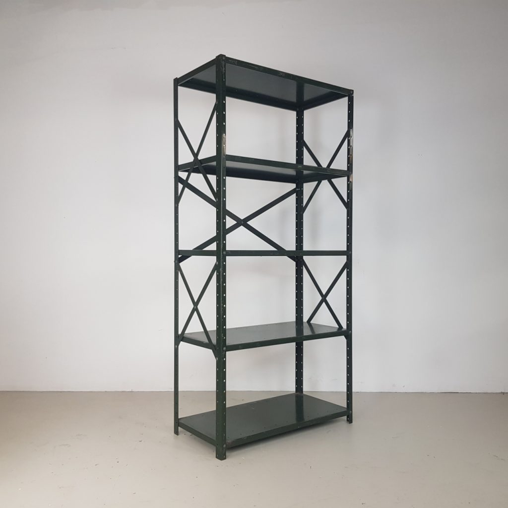Vintage Industrial Metal Shelving Unit Vinterior