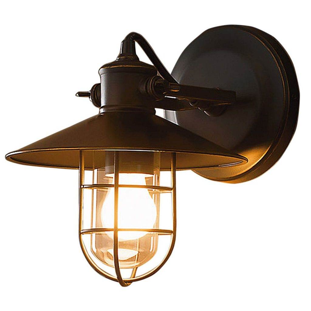 Vintage Outdoor Iron Wall Cage Sconce Retro Lamp Shade Waterproof