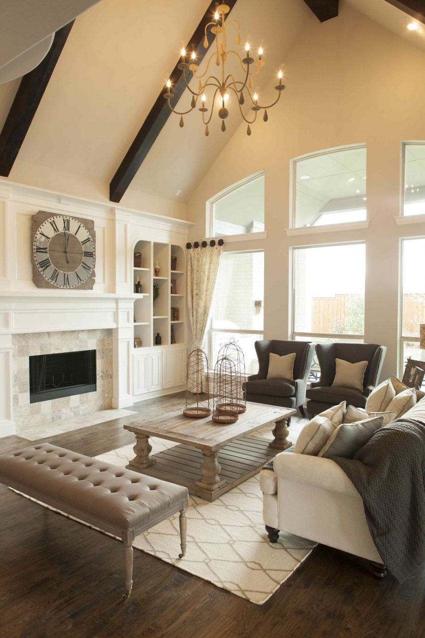 Warm Inviting Living Room Shaddock Homes At Phillips Creek Ranch